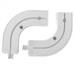 Oblúk koncový na PVC koľajnicu