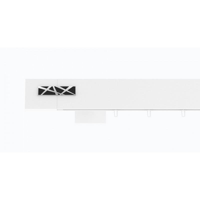 Hranatá garniža TOP LINE - Galaxy biela lesklá