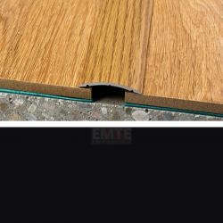 Prechodový profil samolepiaci 40x5 mm - čierna matná