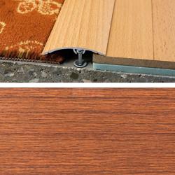 Prechodový profil natĺkací 50 mm - mahagón sapeli