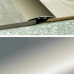 Prechodový profil samolepiaci 80x6,5 mm - striebro