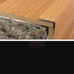 Schodová hrana samolepiaca 24,5x10 mm - čierna matná