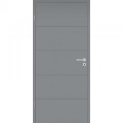 Interiérové dvere DesingLine Stripe 15 so zárubňou a kľučkou - sivé