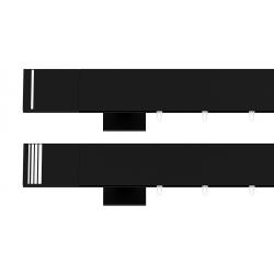 Hranatá garniža TOP LINE - Pásik čierna matná
