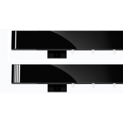 Hranatá garniža TOP LINE - Pásik čierna lesklá