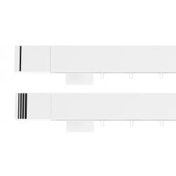 Hranatá garniža TOP LINE - Pásik biela lesklá