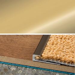 Ukončovací profil vŕtaný 30x8, hrúbka 5 mm - zlato
