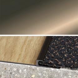 Ukončovací profil vŕtaný 30x10, hrúbka 7 mm - šampaň matný