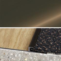 Ukončovací profil vŕtaný 30x10, hrúbka 7 mm - bronz