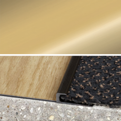 Ukončovací profil vŕtaný 30x10, hrúbka 7 mm - zlato