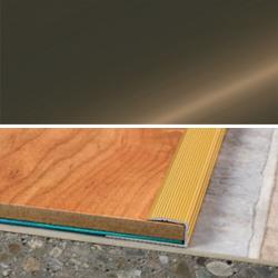 Ukončovací profil vŕtaný 28x11, hrúbka 8 mm - bronz