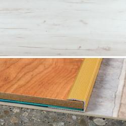 Ukončovací profil vŕtaný 28x11, hrúbka 8 mm - breza siberia
