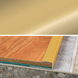 Ukončovací profil vŕtaný 28x11, hrúbka 8 mm - zlato