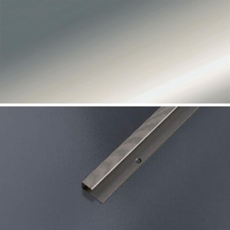 Ukončovací profil vŕtaný 28x13, hrúbka 9-10,2 mm - striebro