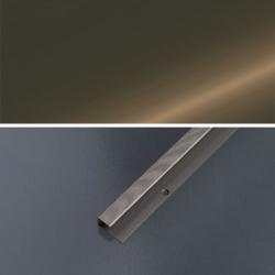 Ukončovací profil vŕtaný 28x13, hrúbka 9-10,2 mm - bronz