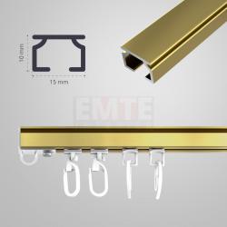 Hliníková koľajnica GIADA jednodrážková - zlatá