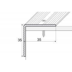 Schodový profil na skrutku 35x35 mm
